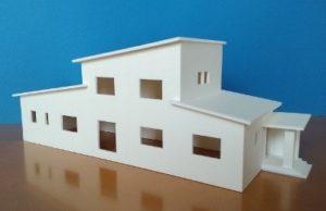 銅町エコハウス 模型