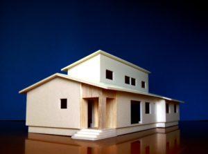 河北町エコハウス 模型